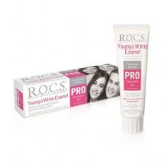 Рокс зубная паста PRO Young & White Enamel Для блеска и белезны молодой эмали 135г ROCS