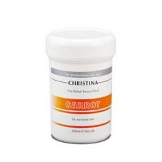 Морковная маска красоты для пересушенной кожи, 250 мл (Christina)