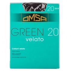 Колготки женские в коробочке OMSA GREEN 20 den nero р-р 2