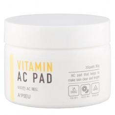 Пилинг-диски для лица APIEU с АНА и ВНА-кислотами и 6 витаминами 35 шт
