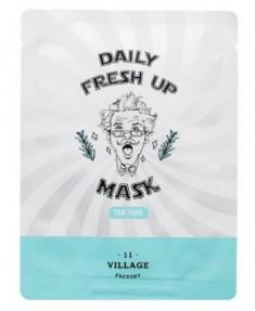 Маска с экстрактом чайного дерева VILLAGE 11 FACTORY Daily Fresh up Mask Tea Tree