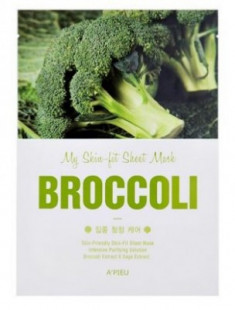 Тканевая маска с брокколи A'PIEU My Skin-Fit Sheet Mask Broccoli