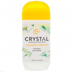 CRYSTAL Дезодорант твёрдый невидимый, ромашка и зелёный чай / Crystal Body Deodorant 70 г