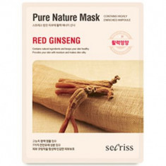 Маска для лица тканевая Anskin Secriss Pure Nature Mask Pack- Red ginseng 25мл