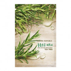 Маска для лица листовая NATURE REPUBLIC REAL NATURE TEA TREE MASK SHEET 23гр