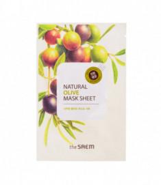 Маска тканевая с экстрактом оливы THE SAEM Natural Olive Mask Sheet 21мл