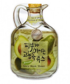 Маска тканевая фруктовая авокадо Baviphat Avocado Juicy Mask Sheet Nutritious&Lifting 23г