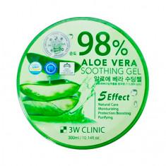 3W Clinic, Универсальный гель Aloe Vera 98%, 300 г