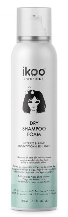 IKOO Шампунь-пенка сухой Увлажнение и блеск / Dry Shampoo Foam Hydrate & Shine 150 мл