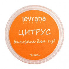 Levrana, Бальзам для губ «Цитрус», 10 г
