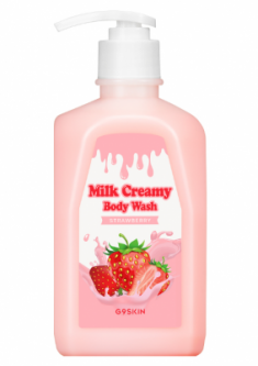Гель для душа Berrisom G9 MILK CREAMY BODY WASH STRAWBERRY 520г