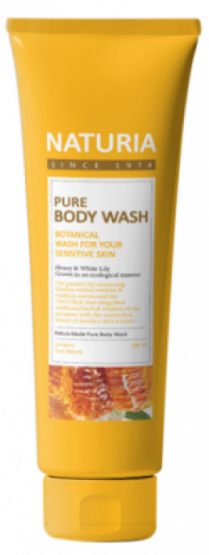 Гель для душа МЕД и ЛИЛИЯ EVAS NATURIA PURE BODY WASH Honey & White Lily 100 мл