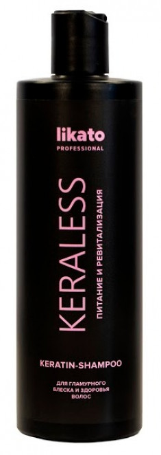 LIKATO PROFESSIONAL Шампунь с кератином для ослабленных волос / KERALESS 400 мл