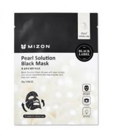 Тканевая маска с жемчугом MIZON Pearl Solution Black Mask