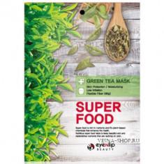 Маска для лица тканевая EYENLIP SUPER FOOD GREEN TEA MASK 23мл