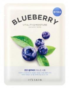 Тканевая маска-лифтинг с черникой It'S SKIN The Fresh Blueberry Mask Sheet 21 г