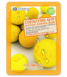Тканевая 3D маска с коэнзимом Q10 FoodaHolic Coenzyme Q10 Natural Essence Mask 23мл