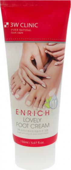 Крем для ног 3W CLINIC Enrich Lovely Foot Treatment 150мл