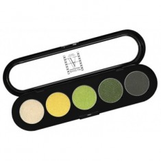 Палитра теней, 5 цветов Make-Up Atelier Paris T08 золотисто-зеленые тона