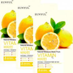 Набор тканевых масок с витаминами EUNYUL NATURAL MOISTURE MASK PACK VITAMIN 22мл*3 шт
