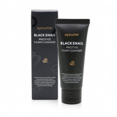 очищающая пенка с муцином черной улитки ayoume black snail prestige foam cleanser