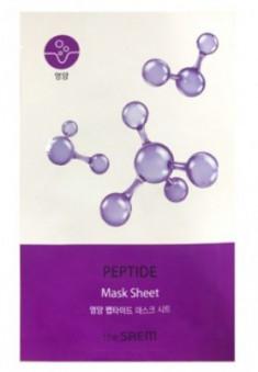 Маска тканевая с пептидами THE SAEM BIO SOLUTION Nourishing Peptide Mask Sheet 29г